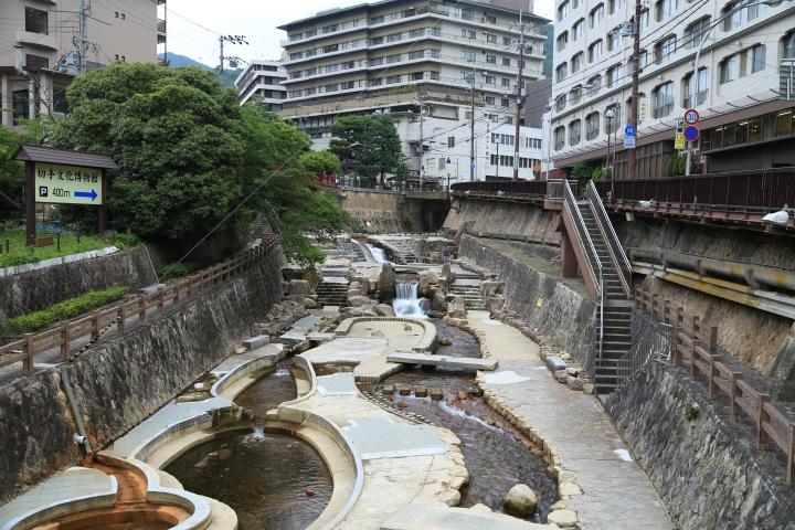 Sungai di Arima Onsen
