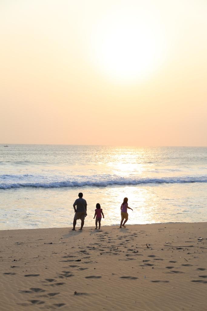 Sore hari di Pantai Pangumbahan