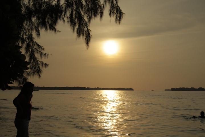 Sunset di P. Perak
